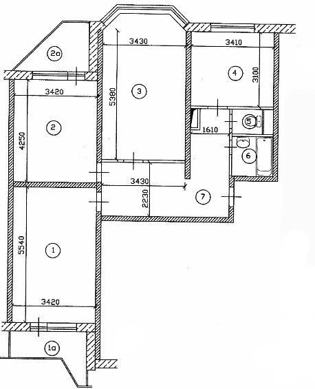 Дизайн-проект 3-комнатной квартиры п44т.
